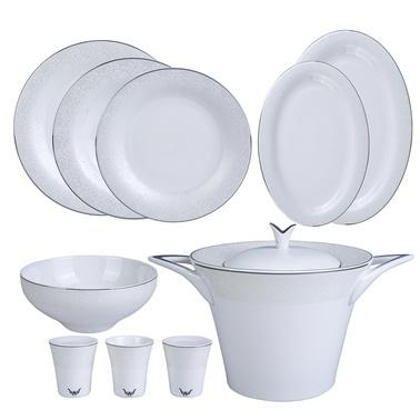 Karaca Silvermask Platin 60 Parça Yemek Takımı  Beyaz